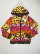CHILDRENS PLACE Girl's Brown Multi Animal Print Hoodie SIZE X-SMALL NWT