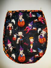 Handmade Cotton Halloween Toilet Seat and Tank Top Covers