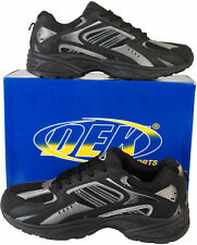 Mens Black Trainers Lace Up Size 6 7 8 9 10 11 12