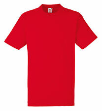 PLAIN  RED FRUIT OF THE LOOM T-SHIRT, ALL SIZES, S-XXL