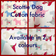"17"" sq Scottie Dog soft cotton curtain fabric craft material by Clarke"