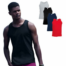 Herren Unterhemd T-Shirt Tank Top Muskelshirt Athletic Fruit of the Loom S - XXL