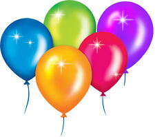 "11"" BALLOONS AIR / HELLIUM USE CHOOSE AMOUNT AND COLOUR"