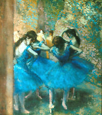 Degas Blue dancers - Stretched Giclee Canvas