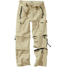 SURPLUS ZIP-OFF CARGO HIKING MENS COMBAT TROUSERS ARMY 3 IN 1 PANTS BEIGE KHAKI