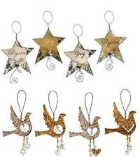 VINTAGE STAR or DOVE Ornament-Metal-by Sunset Vista Designs-Your Choice