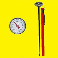 Small Pocket Probe Dial Thermometer, HVAC,A/C,AC,Test,Air Duct, Food, Automotive
