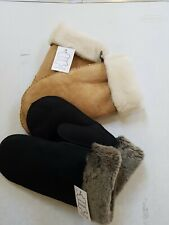 LADIES SHEEPSKIN MITTS GLOVES MITTENS GENUINE SHEEPSKIN