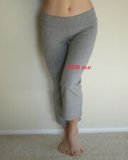 CAPRI YOGA GYM WORKOUT PANTS WITH FOLD OVER WAIST S,M,L  NWT
