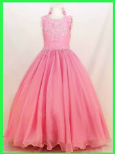 New Girl Pink dress National Pageant Wedding Formal Easter size 5 6 12 14