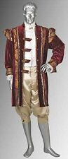 Renaissance Style King's Frock in Velvet and Baroque Damask Handmade and Lined