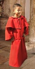 Celtic Medieval Style Two Piece Ritual Robe, Cape, and Hood Ensemble for Boys