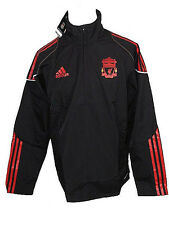 Liverpool FC Adidas black adult player issue windbreak jacket 2010-11 P95522 S M