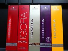 3 x SCHWARZKOPF IGORA ROYAL HAIR COLOR 60ml 100-0 TO 12-19 AND E-00 E-111