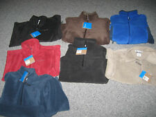 COLUMBIA Men's Polar Fleece Vest or Jacket, Polyester, MSRP-$45.00-$65.00, NWT