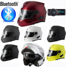 V-CAN BLINC V210 BLUETOOTH FLIP FRONT MOTORCYCLE MOTORBIKE HELMET MP3 SATNAV