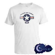 Proud Air Force Dad -  Military Supporter T-Shirt - Armed Forces Father Tee