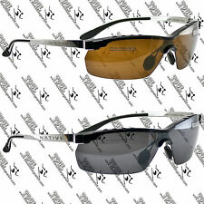 NATIVE NEW FRISCO SUNGLASSES CHROME IRON FRAME, POLARIZED GRAY BROWN REFLEX LENS