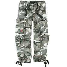 """Airborne Mens Combats Trousers Army Vintage Motorcycle Cargo Urban Camo 30""""-40"""""""