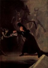 Goya The lamp of the devil - Stretched Giclee Print Canvas