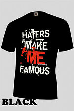 """JERSEY SHORE """"HATERS MAKE ME FAMOUS tee shirt,LIL WAYNE.cool story,"""