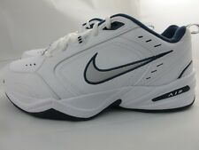 NEW MEN'S NIKE AIR MONARCH IV 416355-102 WHITE/MTLLC SILVER-MONGHT NVY