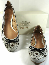 COACH DAFFODYL BULL LEATHER OFF WHITE  FLAT SHOES 5-11