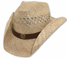 Bret Michaels Western Cowboy Straw Hat Star Concho Be a Country Star Rock it!!