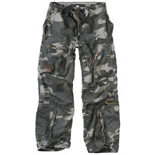 SURPLUS INFANTRY CARGO MENS WORK TROUSERS CASUAL COMBAT PANTS NIGHT CAMO S-XXL