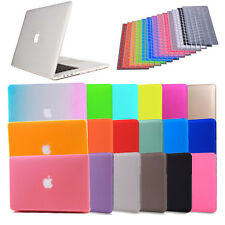 "Soft Silicon Keyboard Cover + Rubberized Hard Case For Apple Macbook Pro 13"" 15"""