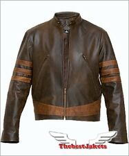 NEW LEATHER JACKET WOLVERINE X-MEN ORIGINS BIKER X-1