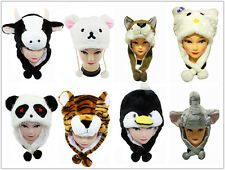 Adorable Warm Winter Cartoon Animal Hat Cap with Scarf