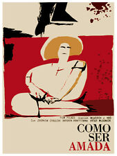 Como ser amada how to be loved vintage POSTER.Graphic Design.Art Decoration.3412