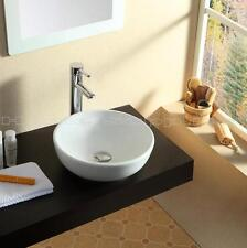 BATHROOM COUNTERTOP ROUND CERAMIC BASIN SINK HS84A