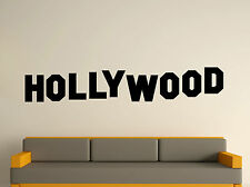 WALL ART STICKER DECAL MURAL TEXT QUOTE DECORATIVE FAMOUS HOLLYWOOD SIGN