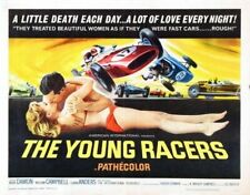 YOUNG RACERS 02 VINTAGE B-MOVIE REPRODUCTION ART PRINT CANVAS A4 A3 A2 A1