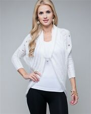 BNWT LADIES COCOON CARDIGAN, WHITE, BEIGE OR COFFEE, SIZES S, M, L