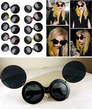 Retro Lady Mickey Mini Mouse Flip Up Paparazzi Sunglasses Glasses Shades Fashion