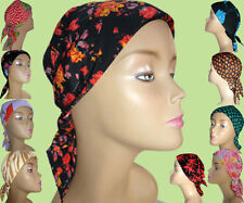 PADDED CHEMO HEAD SCARF FOR  CANCER, CHEMOTHERAPY HAIRLOSS, APOLEPIA. BRG