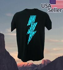 Zebra 80's old school fashion Neon Blue Lightning  Bolt  In Control Clothing
