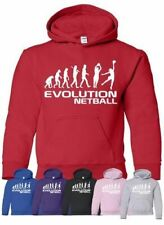 Evolution Of Netball Sports Ladies Hoodie Gift Size S-XXL