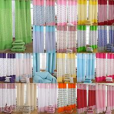 Homescapes Cotton Patchwork Curtains Ready Made Eyelet Ring Top 3 Sizes