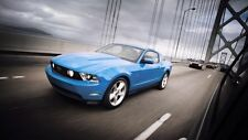 Ford Mustang GT Blue CARS3345 Art Print Poster A4 A3 A2 A1