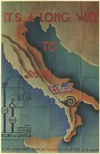 It's A Long Way To Rome Vintage Italian Travel VII073 Print A4 A3 A2 A1