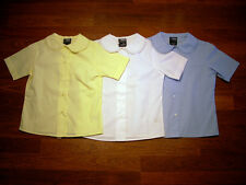 GIRLS FRENCH TOAST LACE COLLAR  SHIRT BLOUSE NEW NWT YELLOW WHITE BLUE