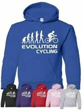 Evolution Of Cycling Biking Sport Girls Boys Hoodie Gift Age 5-13