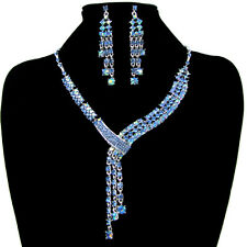 New Marvelous Crystal Earring Necklace Jewelry Set For Wedding Bridal Party Ball
