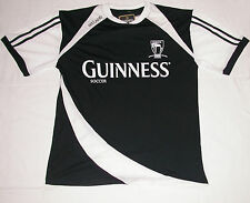 Guinness Guiness Black & White Soccer Jersey Polo Rugby Shirt