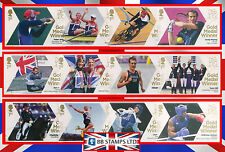 London 2012 Olympic Games Gold Medal Winners Single Stamps.