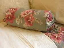 NEW Custom Ralph Lauren Shetland Manor Floral Neckroll Pillow Neck Roll